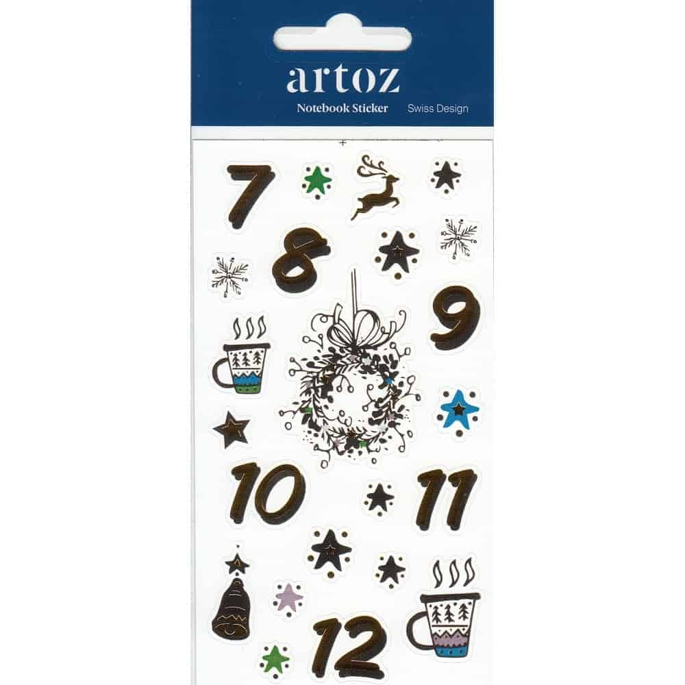 Christmas Advent Calender (Day 7-12) Self Adhesive Stickers By Artoz