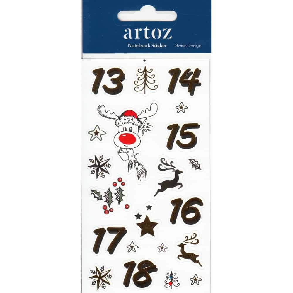 Christmas Advent Calender (Day 13-18) Self Adhesive Stickers By Artoz