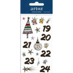 Christmas Advent Calender (Day 19-24) Self Adhesive Stickers By Artoz