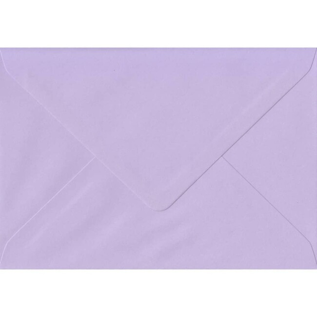 A7 Lilac Envelope - 114mm x 162mm Amethyst Top Quality Envelope. C6 (to fit A6) Size. Gummed Flap. 100gsm Paper.