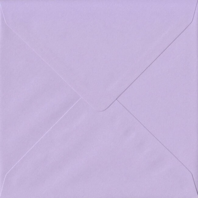 155mm x 155mm Amethyst Top Quality Envelope. Square Envelopes Size. Gummed Flap. 100gsm Paper.
