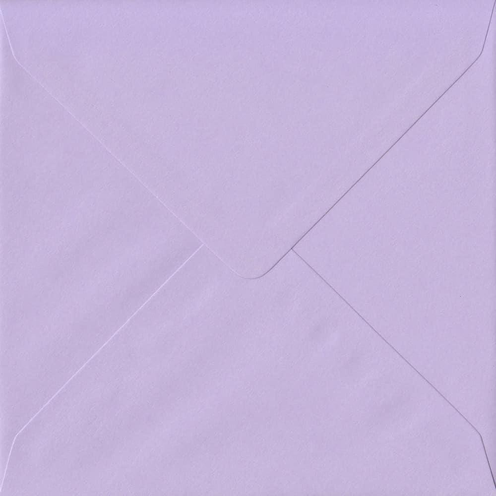 155mm x 155mm Amethyst Top Quality Envelope. Square Envelopes Size. Gummed Flap. 100gsm Paper.