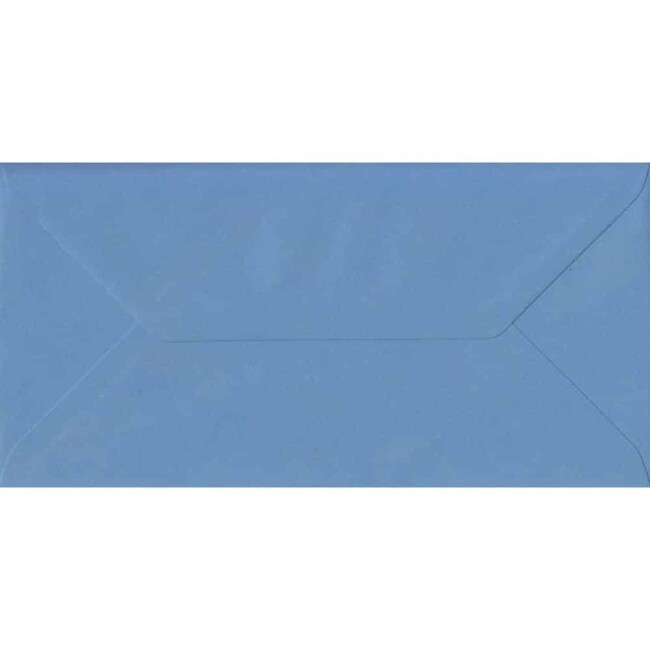110mm x 220mm China Blue Top Quality Envelope. DL Envelopes Size. Gummed Flap. 100gsm Paper.