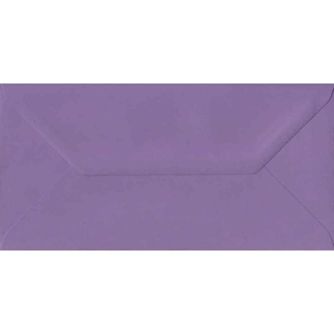 110mm x 220mm Indigo Top Quality Envelope. DL Envelopes Size. Gummed Flap. 100gsm Paper.