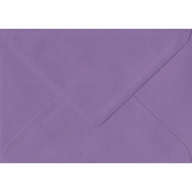 114mm x 162mm Indigo Top Quality Envelope. C6 (to fit A6) Size. Gummed Flap. 100gsm Paper.
