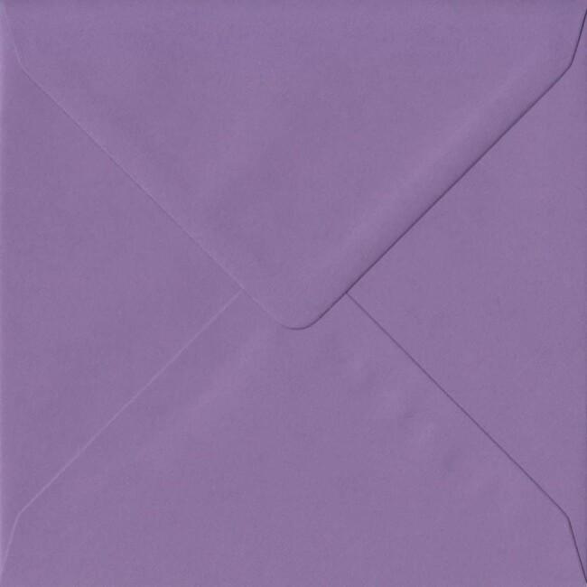 155mm x 155mm Indigo Top Quality Envelope. Square Envelopes Size. Gummed Flap. 100gsm Paper.