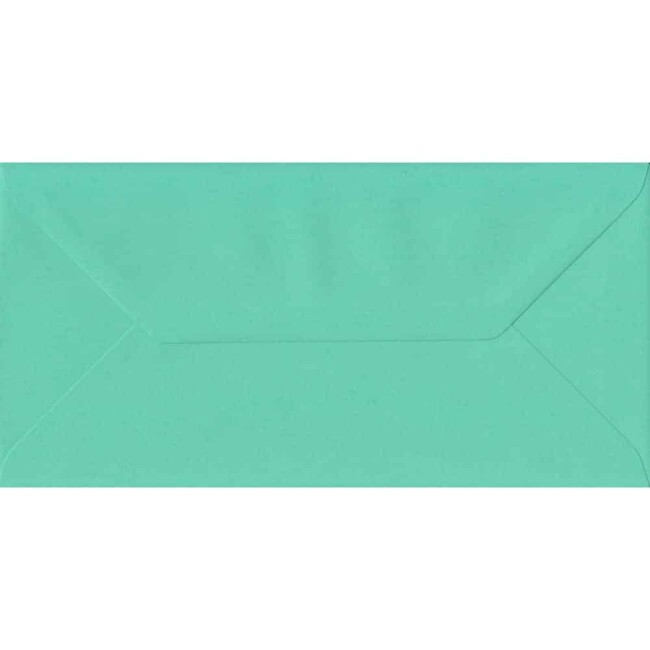 110mm x 220mm Warbler Green Top Quality Envelope. DL Envelopes Size. Gummed Flap. 100gsm Paper.