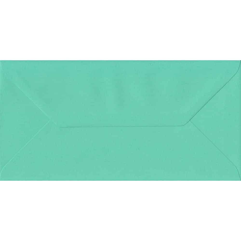 110mm x 220mm Warbler Green Top Quality Envelope. DL Envelopes Size. Gummed Flap. 100gsm Paper.