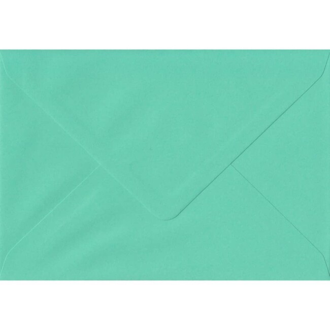 114mm x 162mm Warbler Green Top Quality Envelope. C6 (to fit A6) Size. Gummed Flap. 100gsm Paper.