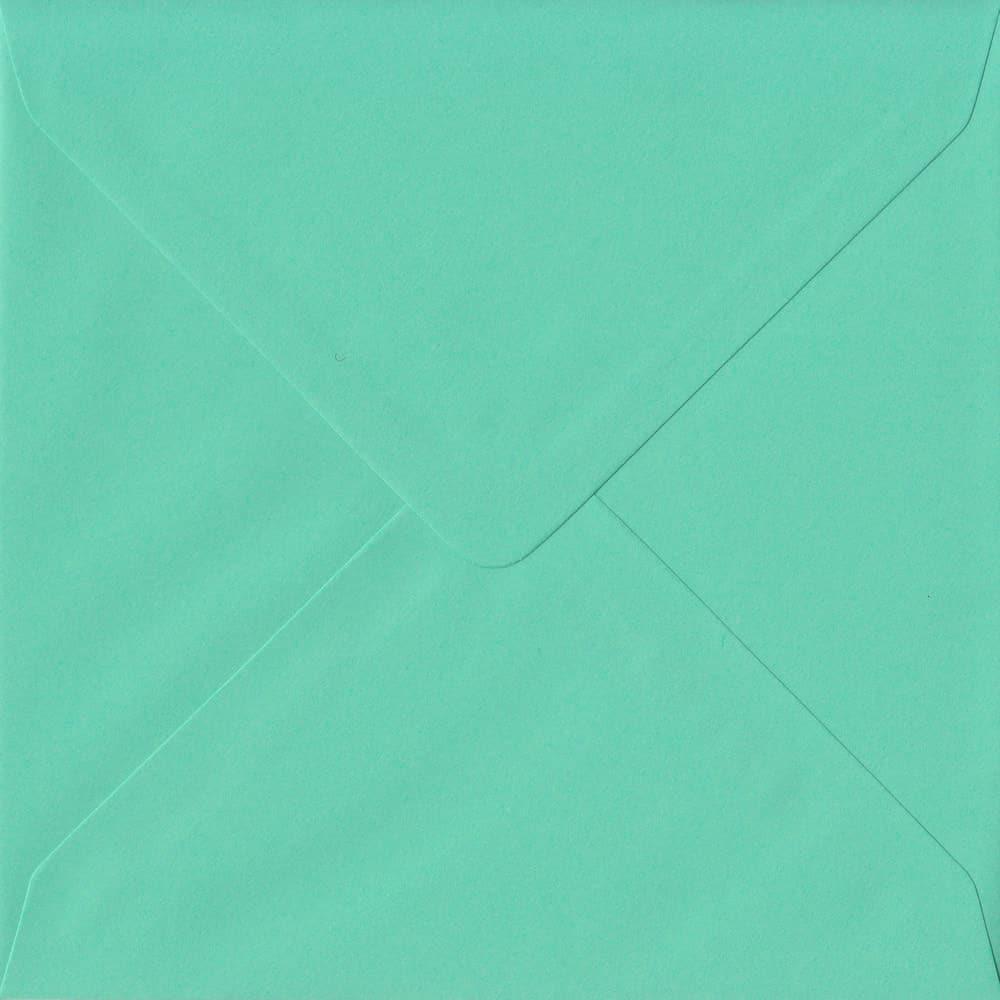 155mm x 155mm Warbler Green Top Quality Envelope. Square Envelopes Size. Gummed Flap. 100gsm Paper.