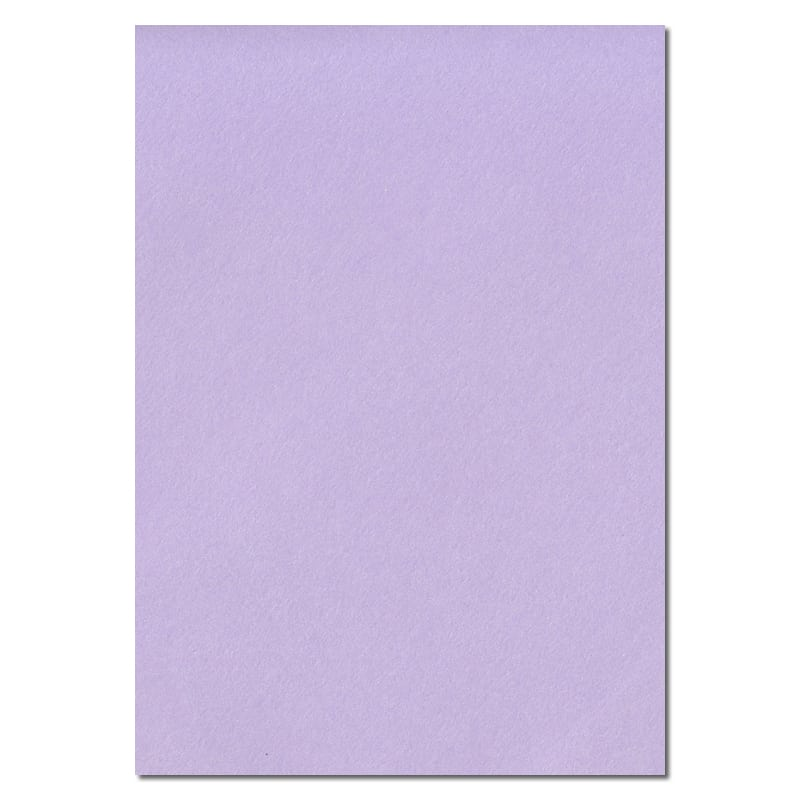 297mm x 210mm Amethyst Lavender Solid Paper. A4 Sheet Size. 100gsm Lilac Paper.