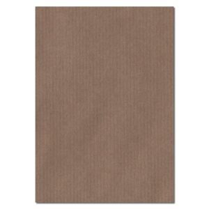 297mm x 210mm Brown Ribbed Recycled Paper. A4 Sheet Size. 100gsm Brown Paper.