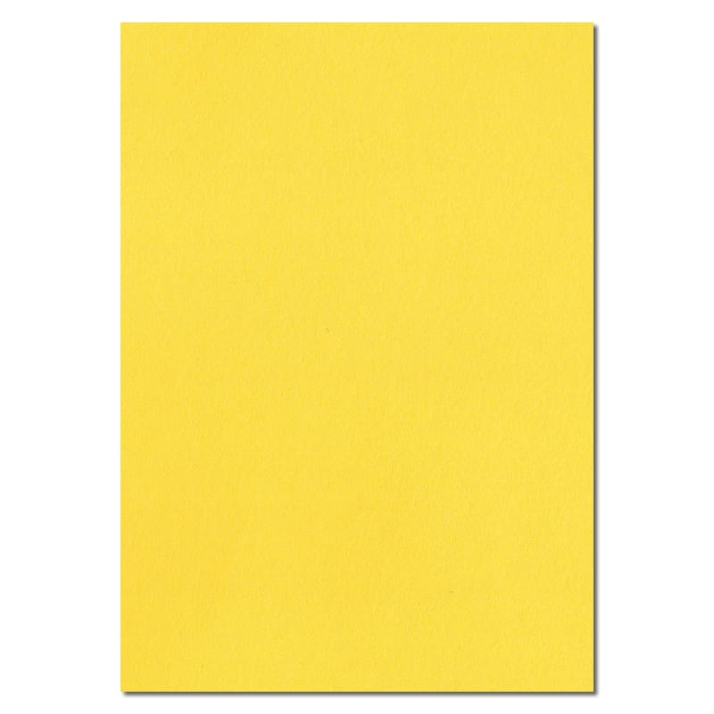 297mm x 210mm Banana Yellow Extra Thick Paper. A4 Sheet Size. 120gsm Yellow Paper.