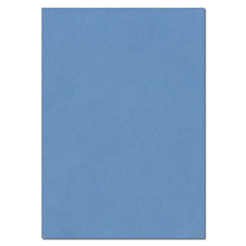 297mm x 210mm China Blue Solid Paper. A4 Sheet Size. 100gsm Blue Paper.