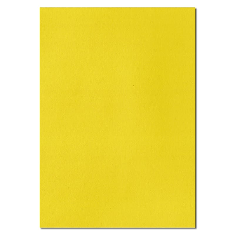 297mm x 210mm Daffodil Yellow Solid Paper. A4 Sheet Size. 100gsm Yellow Paper.