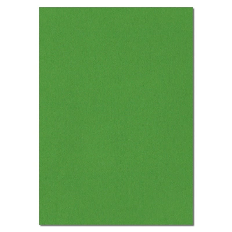 297mm x 210mm Fern Green Solid Paper. A4 Sheet Size. 100gsm Green Paper.