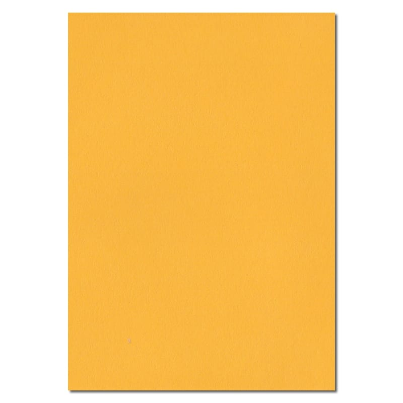 297mm x 210mm Golden Yellow Solid Paper. A4 Sheet Size. 100gsm Yellow Paper.