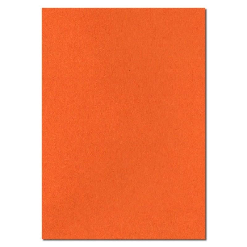 297mm x 210mm Orange Solid Paper. A4 Sheet Size. 100gsm Orange Paper.