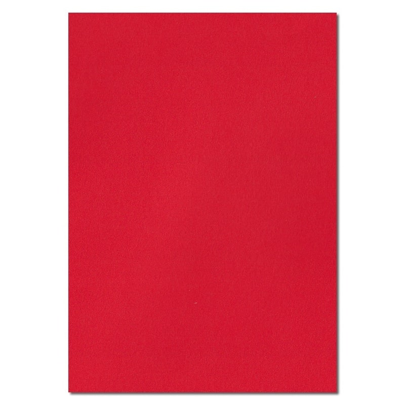 297mm x 210mm Pillar Box Red Extra Thick Paper. A4 Sheet Size. 120gsm Red Paper.