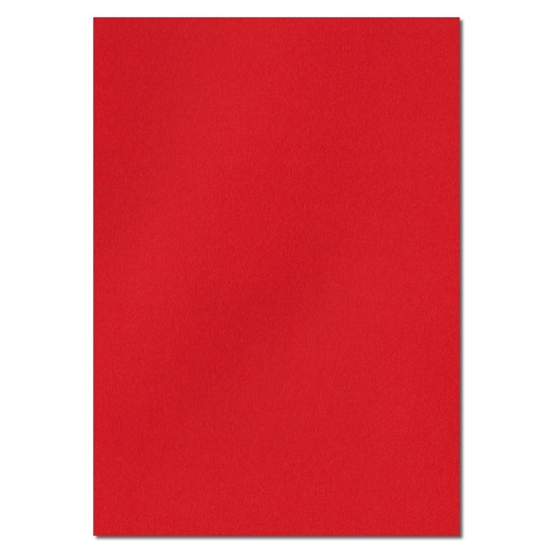 297mm x 210mm Poppy Red Solid Paper. A4 Sheet Size. 100gsm Red Paper.