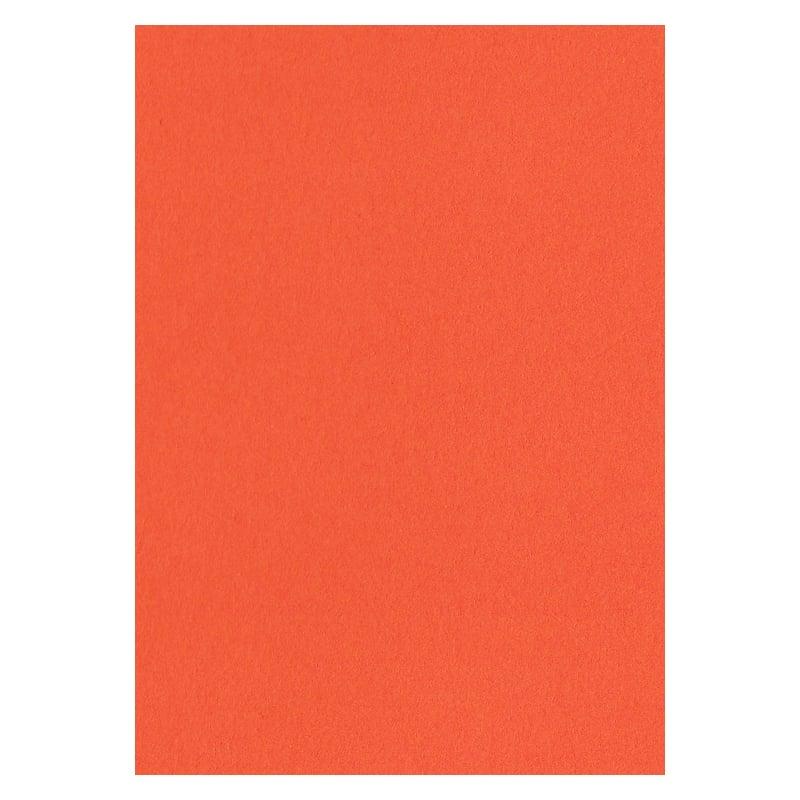 297mm x 210mm Pumpkin Orange Extra Thick Paper. A4 Sheet Size. 120gsm Orange Paper.