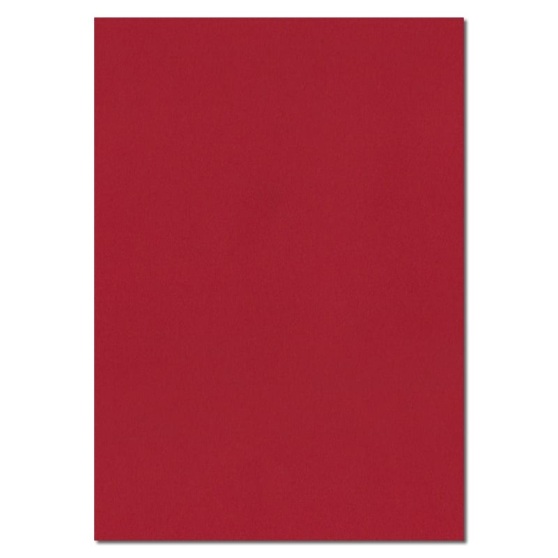 297mm x 210mm Scarlet Red Solid Paper. A4 Sheet Size. 100gsm Red Paper.