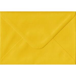 100 A6 Yellow Envelopes. Sunflower Yellow. 114mm x 162mm. 100gsm paper. Gummed Flap.