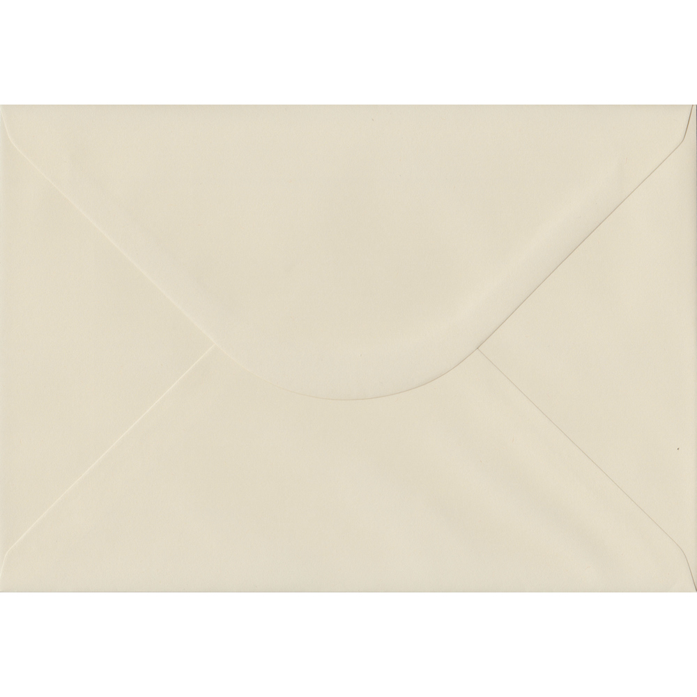 100 A5 Cream Envelopes. Vanilla. 162mm x 229mm. 100gsm paper. Gummed Flap.