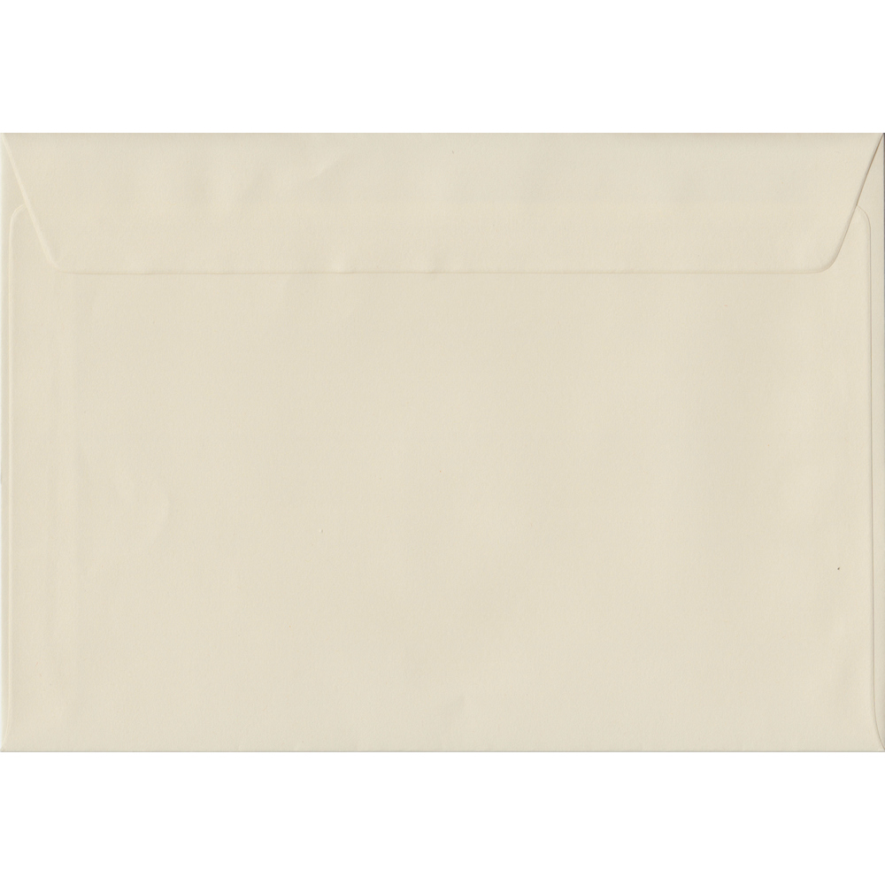 162mm x 229mm Vanilla Cream Heavyweight 130gsm Envelope. C5/Half A4 Peel/Seal 130gsm. Discount Pack Of 100.