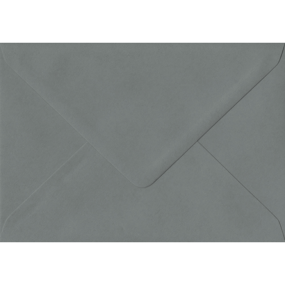 114mm x 162mm Vintage Grey Extra Thick Envelope. C6 (to fit A6) Size. Gummed Flap. 135gsm Paper.