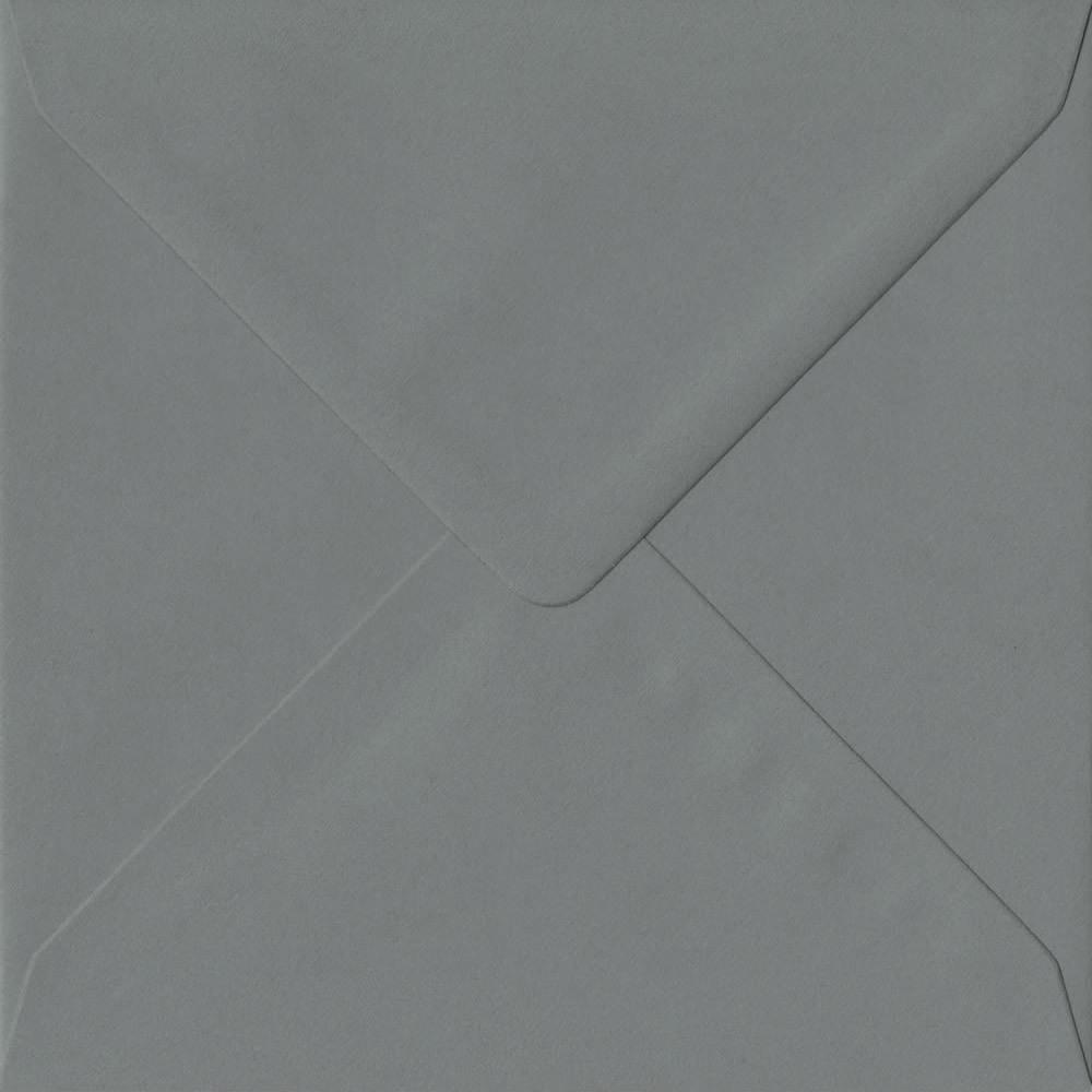 155mm x 155mm Vintage Grey Extra Thick Envelope. Square Envelopes Size. Gummed Flap. 135gsm Paper.