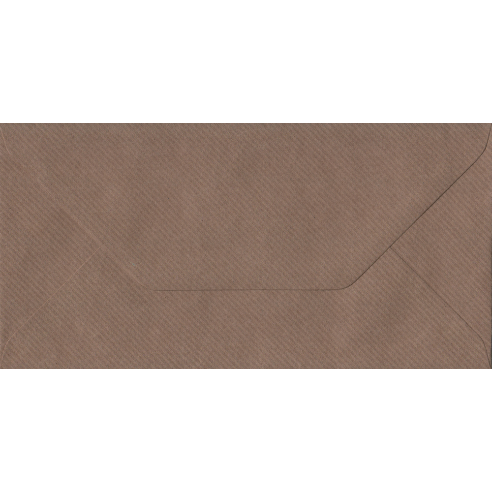 Brown Ribbed Envelope