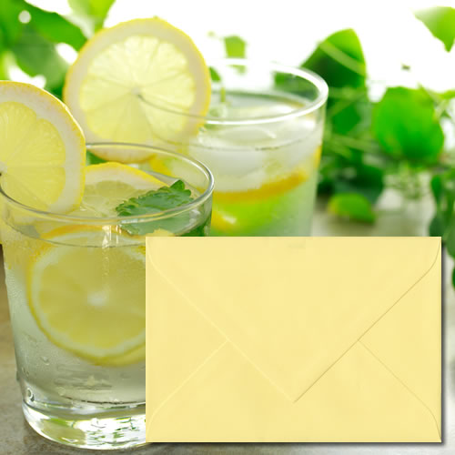 Citrus Yellow Laid Envelopes