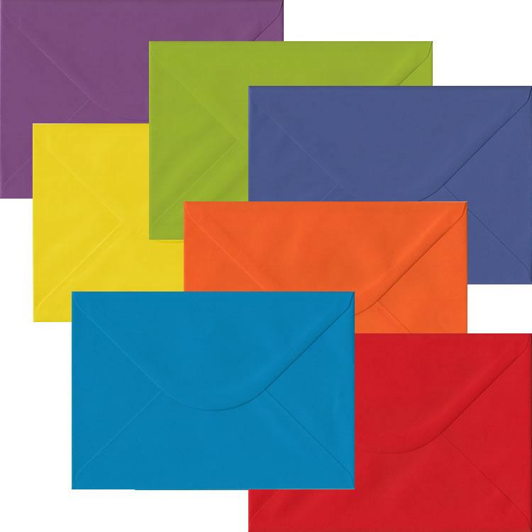 50 Festive Xmas Card Envelopes Multi Coloured C5 Gummed Christmas Card Envelope